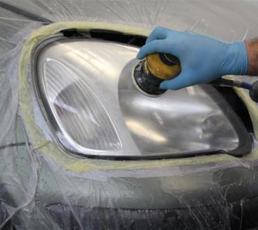 Полировка фар автомобиля, полировка пластиковых фар